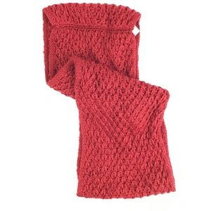 BCBGeneration Tucked Stitch Infinity Scarf Red